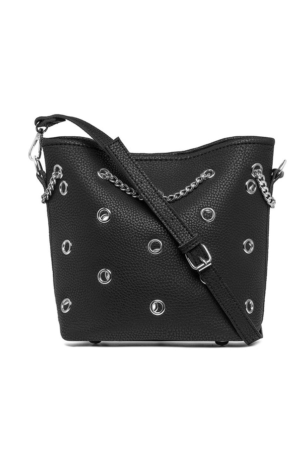 Faux Leather Hollow Studs Bag (2003341508672)