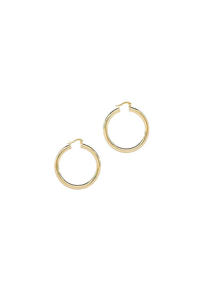 Metallic Round Hoop Earrings