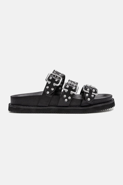 Maya Faux Leather Slides