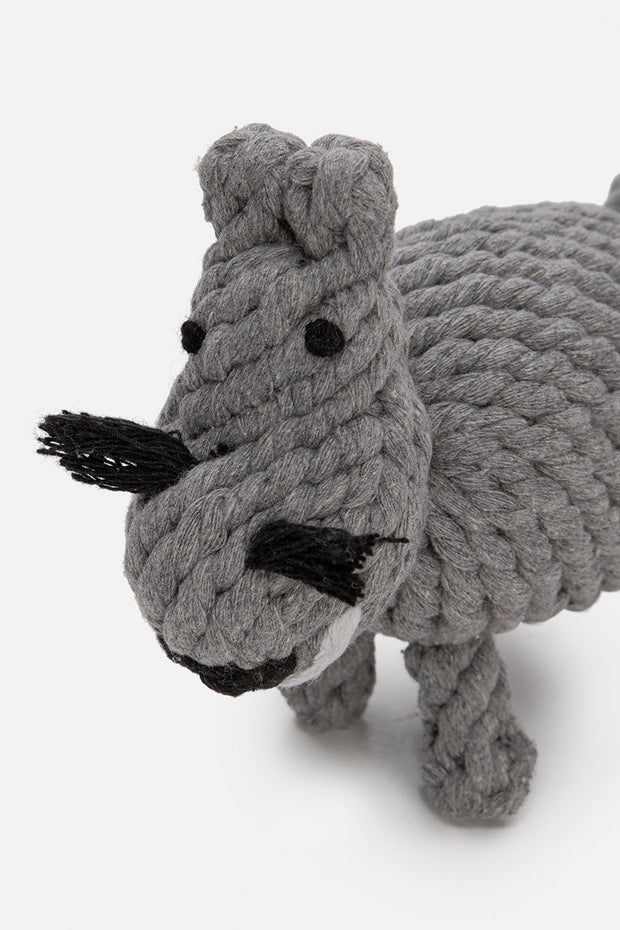 Hippo Knot Rope Dog Toy
