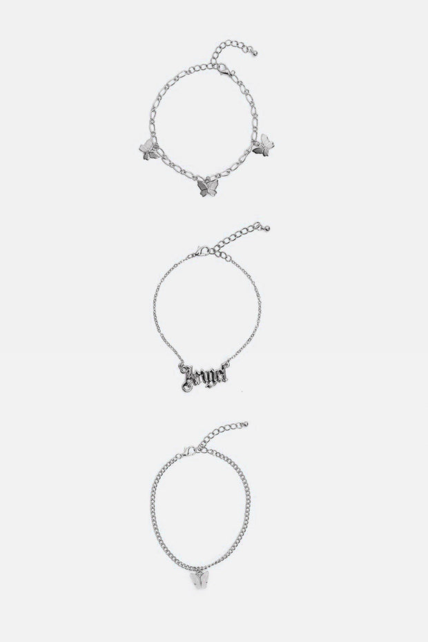 Lara 3 Piece Anklet Set