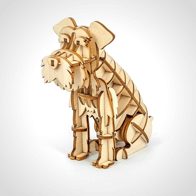 Schnauzer 3D Wooden Puzzle - Eco.Pegs
