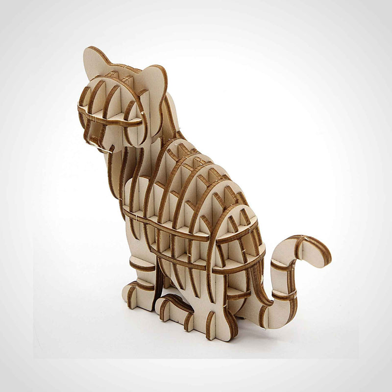 Cat 3D Wooden Puzzle - Eco.Pegs