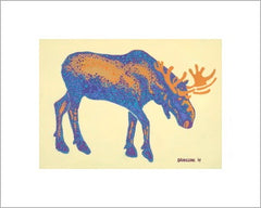 bull moose 2 5x7 print ready to frame. Original art by Sue Dranchak Artist