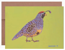 Load image into Gallery viewer, Gambel's Quail ~ Card - Dranchak Studio