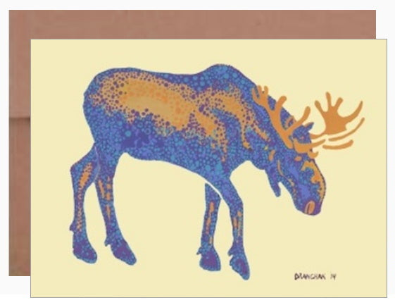 Bull Moose-2 ~ Card - Dranchak Studio