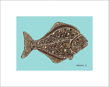 Halibut ~ Ready to frame - Dranchak Studio