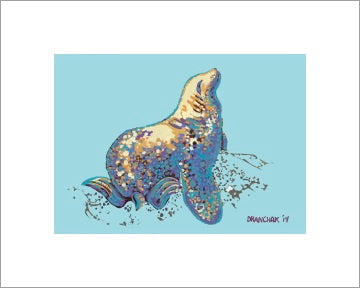 Stellar Sea Lion ~ Ready to frame - Dranchak Studio