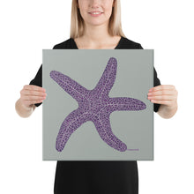 Load image into Gallery viewer, Purple sea star/ starfish - Canvas print
