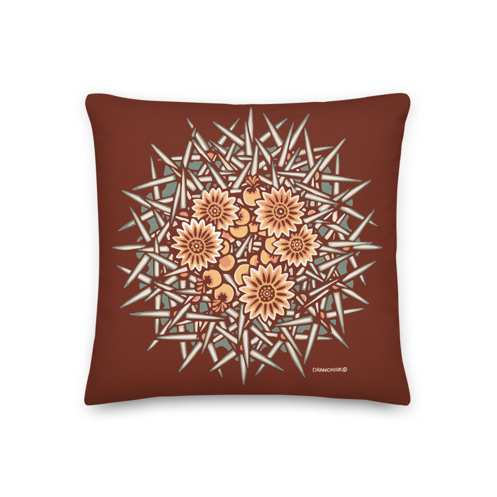 Barrel cactus #13 - Decorative Pillow