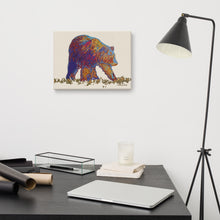 Load image into Gallery viewer, Walking bear - Gallery wrapped canvas print
