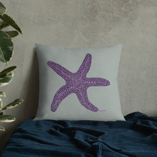 Load image into Gallery viewer, Purple sea star - Premium pillow