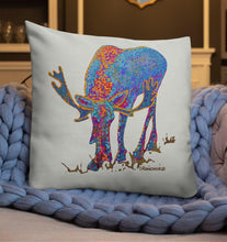Load image into Gallery viewer, Bull moose 1 - Premium pillow