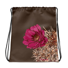 Load image into Gallery viewer, Blooming Hedgehog - style 2 - Drawstring bag