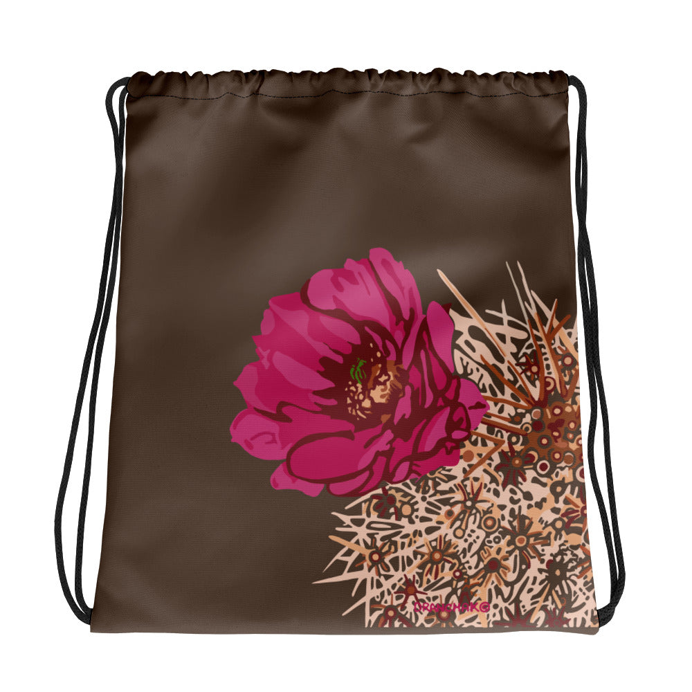 Blooming Hedgehog - style 2 - Drawstring bag