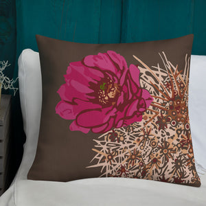 Blooming hedgehog - Style2 - Premium pillow