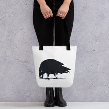 Load image into Gallery viewer, Raven finds love  Tote bag