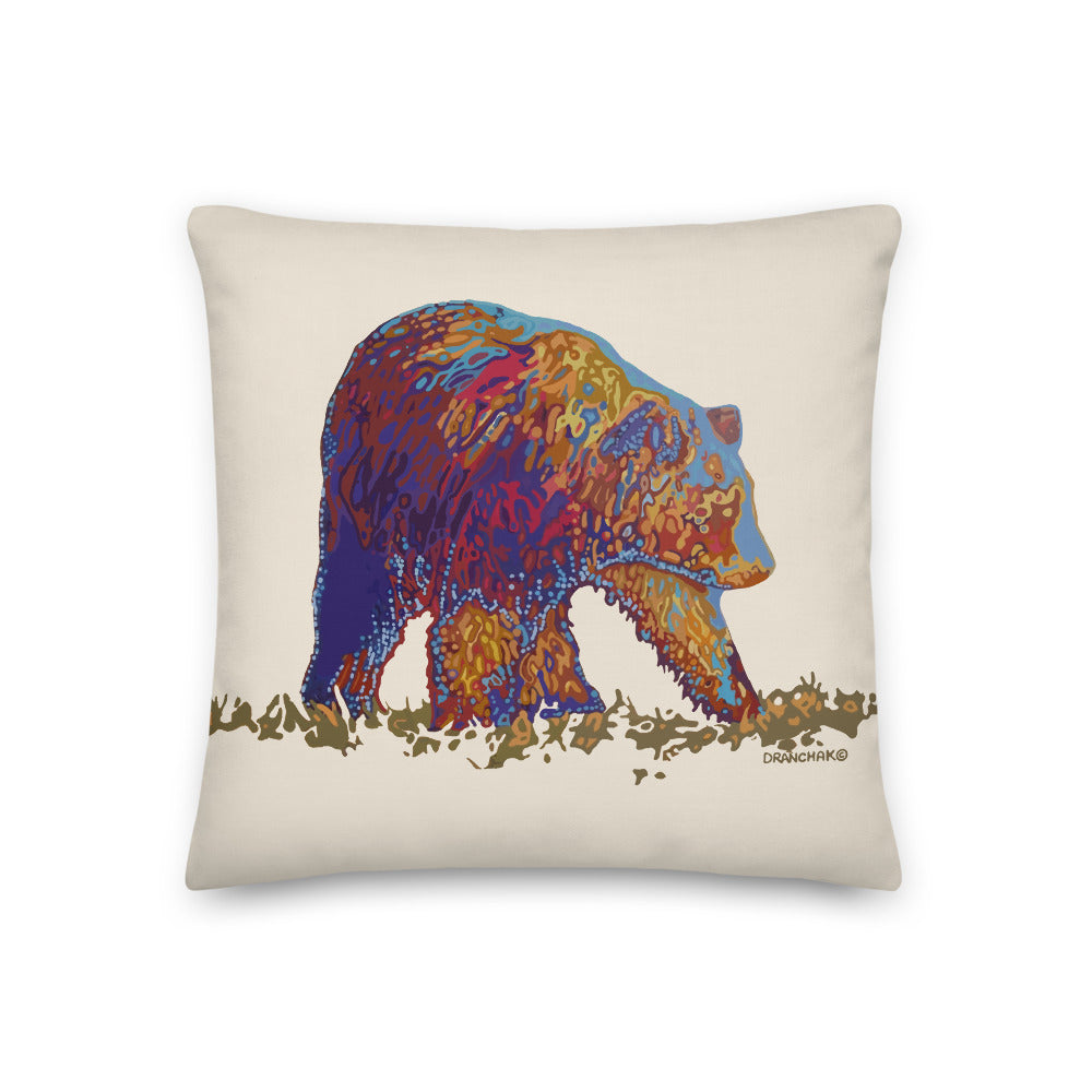 Walking bear - Premium Pillow