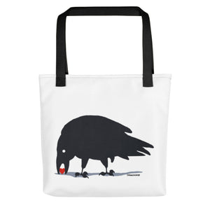 Raven finds love  Tote bag