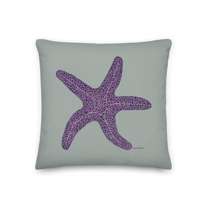 Purple sea star - Premium pillow