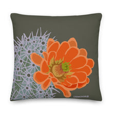 Load image into Gallery viewer, Claret cup hedgehog - Premium pillow