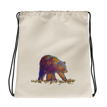 Load image into Gallery viewer, Walking bear - Drawstring bag