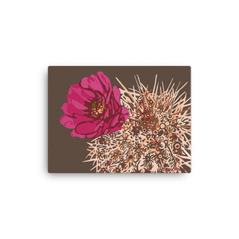 Blooming Hedgehog - style 2- Gallery wrapped canvas print
