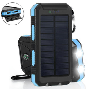 20000 mAh Dual USB Waterproof Solar Power Bank - Phone Zing