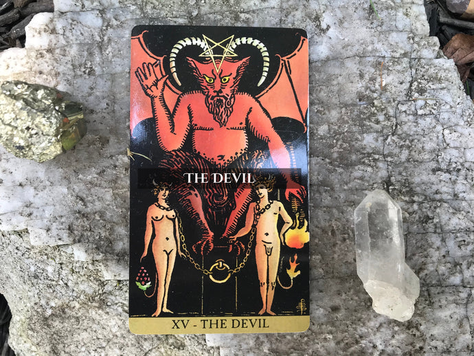 The Devil Tarot Card of the Major Arcana