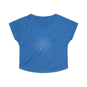 Flower of Life - Women's Tri-Blend Dolman