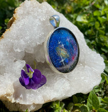 Load image into Gallery viewer, Andromeda Galactic Pendant with Druzy Quartz