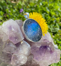 Load image into Gallery viewer, Cassiopeia Galactic Pendant with Druzy Quartz