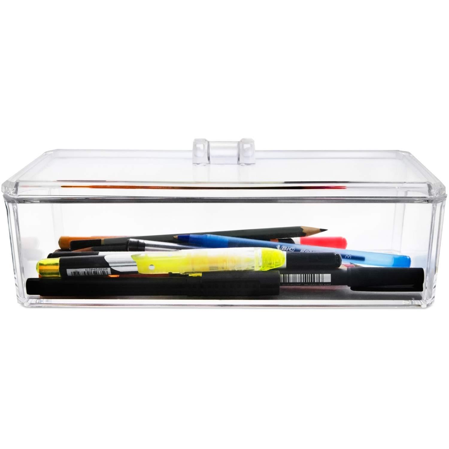 Single Acrylic Storage Box with Lid - Kyla Dawn Designs