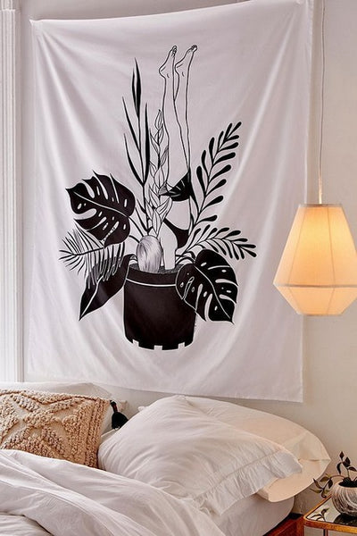 Snake And Magnolia Wall Tapestry
