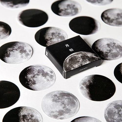 Moon Style Stickers - 45 Pack - Kyla Dawn Designs