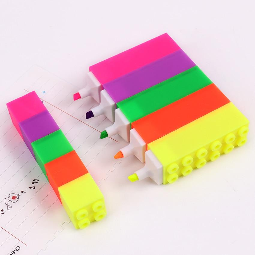 Lego Highlighters - 5 Colors - Kyla Dawn Designs