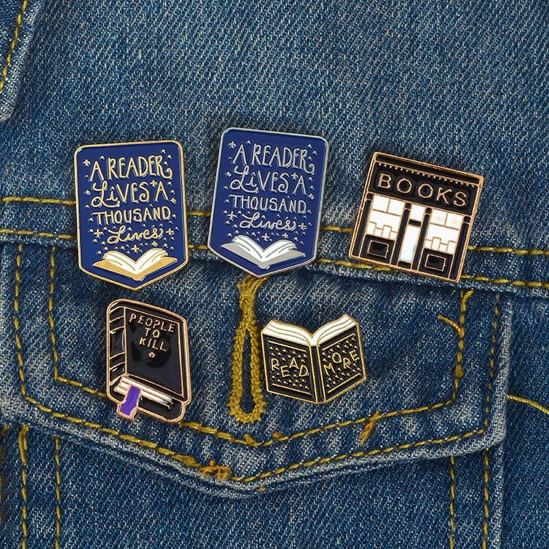 Library Enamel Pins - Kyla Dawn Designs