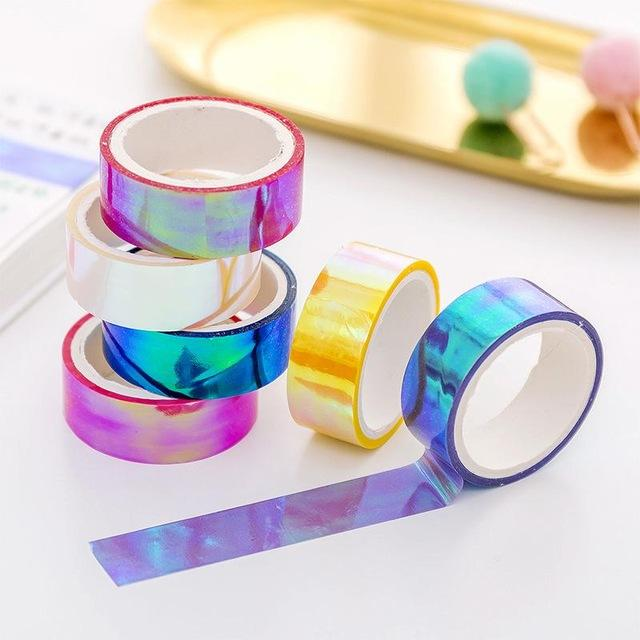 Rainbow Laser Washi Tape - 6 Pack - Kyla Dawn Designs