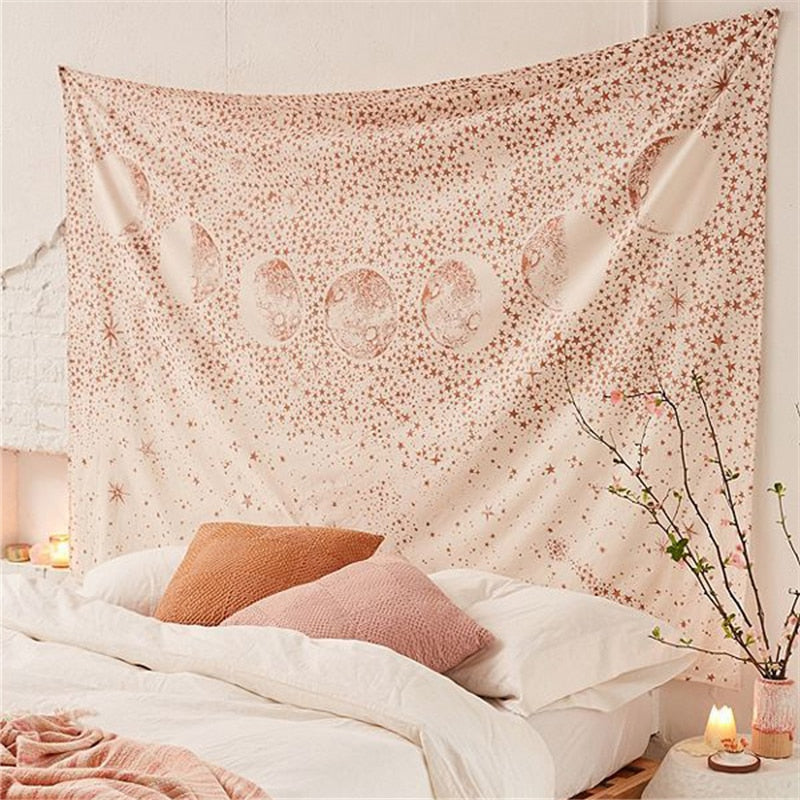 Light Moon Tapestry