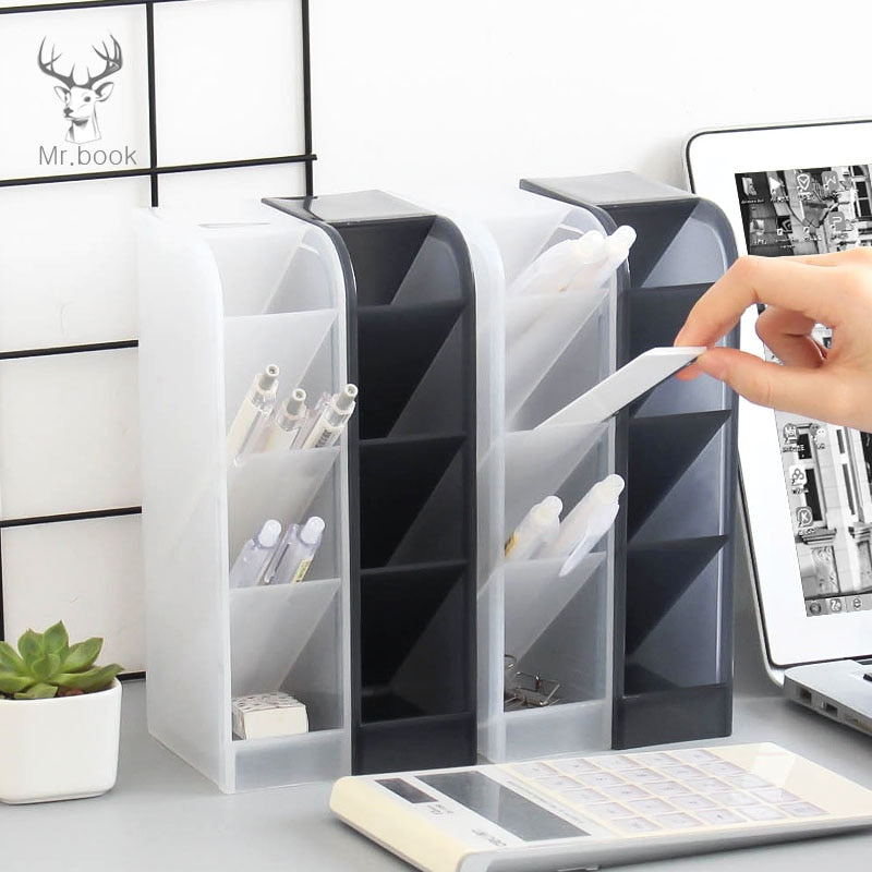Multi-function 4 Grid Pen Holder