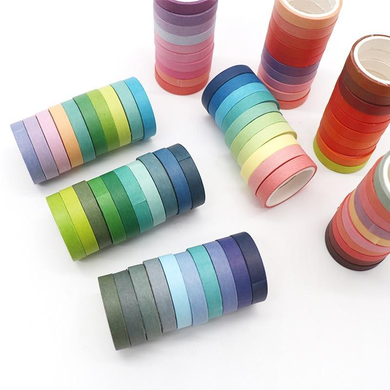 Rainbow Washi Tape - 10 Pack - Kyla Dawn Designs