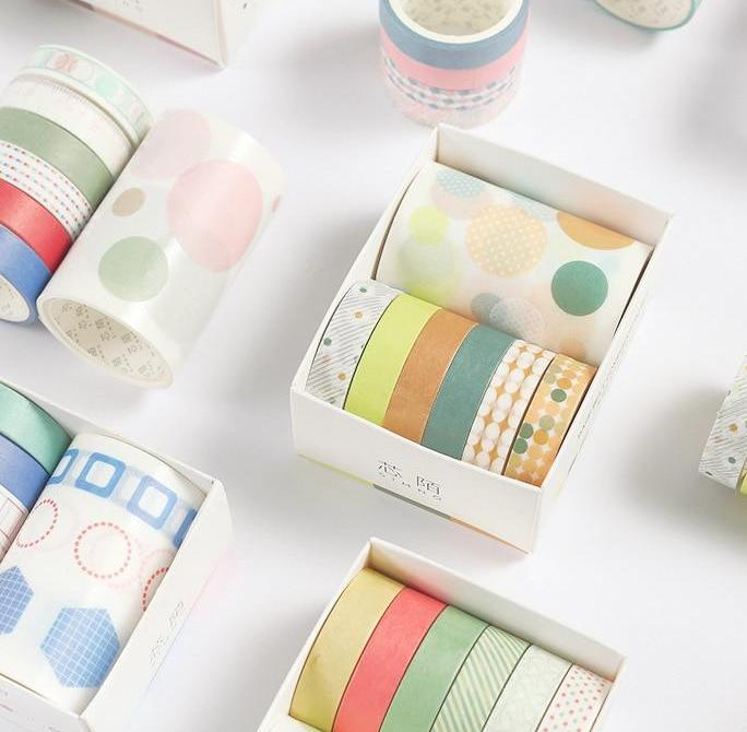 Japanese Style Washi Tape- 7 Pack - Kyla Dawn Designs