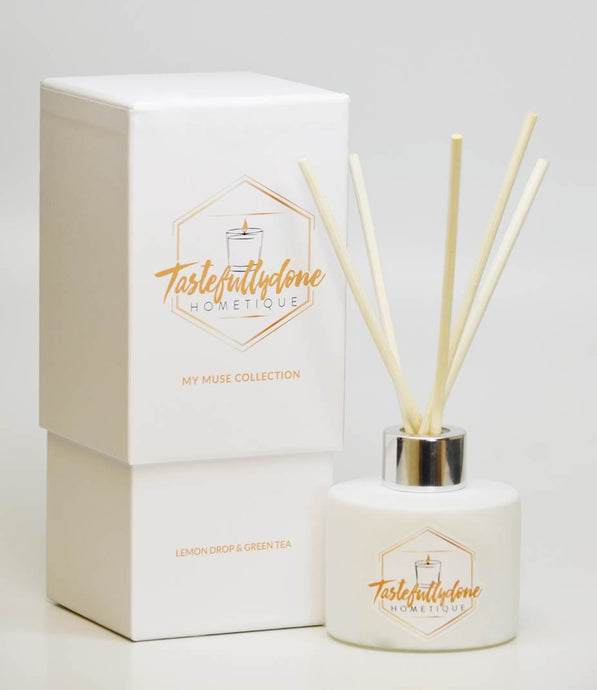 My Muse Fragrance Collection - Lemon Drop & Green Tea Reed Diffuser 3oz.