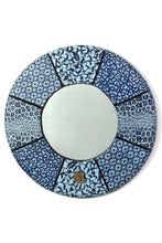 "Load image into Gallery viewer, 24"" Round Bibire Wax Cloth Mirror"