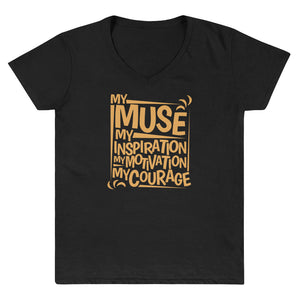 MY MUSE SICKLECELL V-Neck Shirt