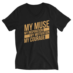 MY MUSE Block V-Neck T-Shirt