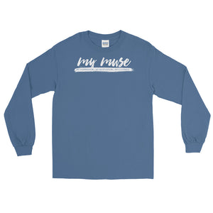My Muse White Script Long Sleeve T-Shirt