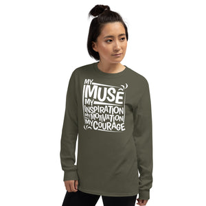 My Muse White Long Sleeve T-Shirt