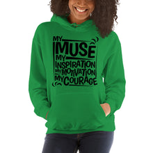 Load image into Gallery viewer, My Muse Black Unisex Hoodie
