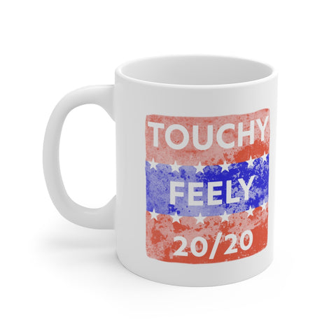 Touchy Feely 20/20 Funny Election Campaign Parody Mug